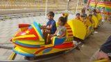 מתקן לונה פארק רכבת טיל צהוב